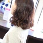 くるしい〜汗)ままの髪ではパーマは上手くいきません(^_^;)