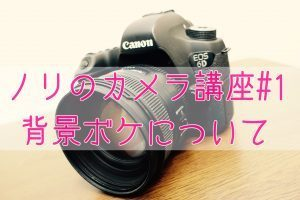 【ノリのカメラ講座#1】スタイル撮影での背景ボケ